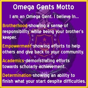 Omega Gents Motto